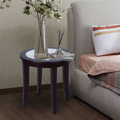 Stone coffee tables with modern pieno carrara coffee table white 51 marble and faux tables china square solid surface round carrera in aeneas best home design wood oak. Olee Sleep Natural Marble Top Round Coffee Table/ Tea Table / End Table/ Side Table/ Solid Wood ...