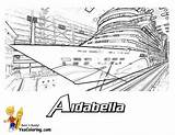 Coloring Ship Cruise Ships Colouring Titanic Aidabella Yescoloring Swanky sketch template