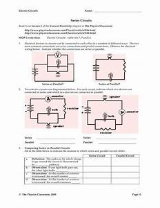 Series And Parallel Circuits Worksheet