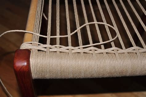 weaving paper cord seats on modern furniture