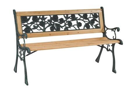 table de jardin et chaises banc de jardin bois fonte