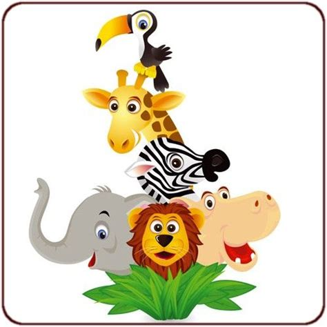 dessin animaux de la jungle photos stickers pour enfants