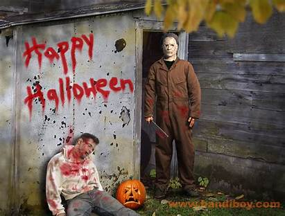 Myers Halloween Michael Scary Backgrounds Horror Happy