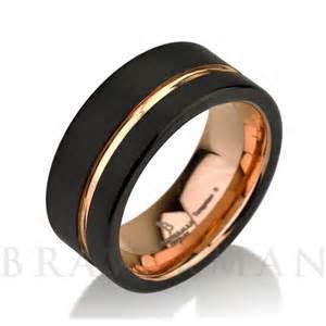 black tungsten wedding band black tungsten ring gold wedding band ring tungsten 9mm 18k tungsten ring band