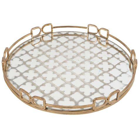 decorative tray a b home 18 in x 18 in decorative tray in rustic brass