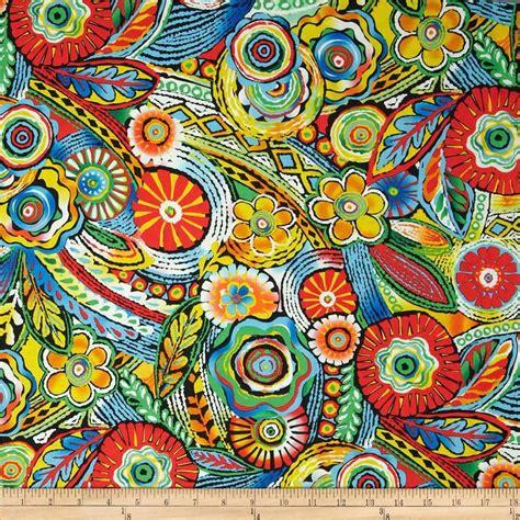samba moroccan tile bright multi  atfabricdotcom