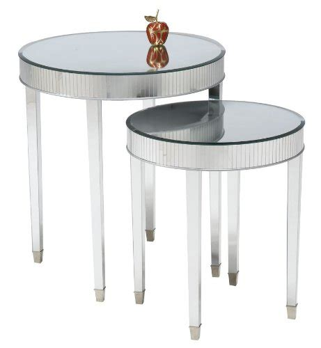 cheap round end tables set of 2 mirror top cinema round end tables cheap price