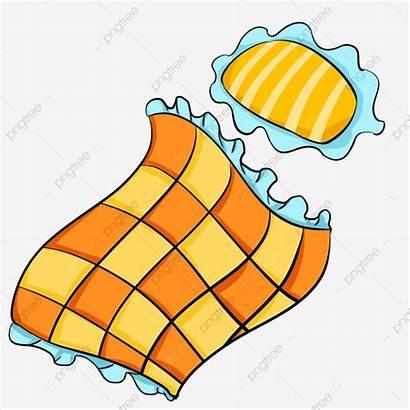 Quilt Yellow Pillow Plaid Clipart Cartoon Checkered
