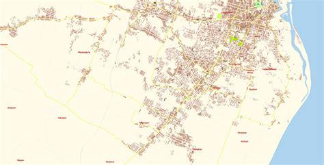 banyuwangi map vector exact city plan detailed street map