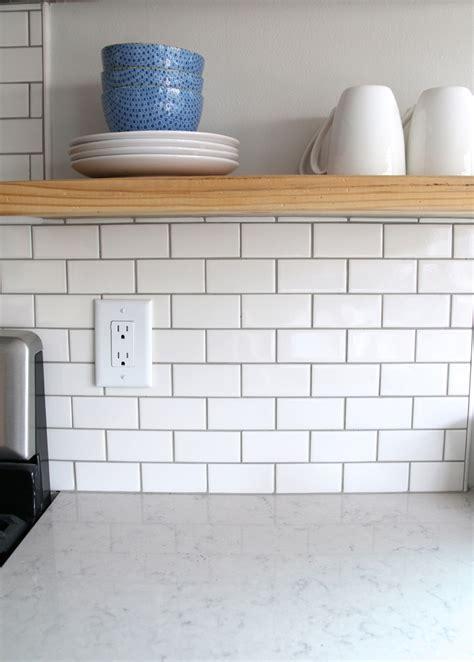 white kitchen backsplash tiles for the backsplash i went with a simple 2 x 4