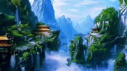 Nature Wallpapers Chinese Village Mountain Asian Desktop