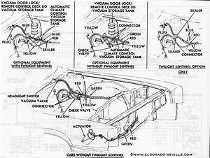 1967 headlight vacuum diagram cadillac cars pinterest With 1969 lincoln mark v