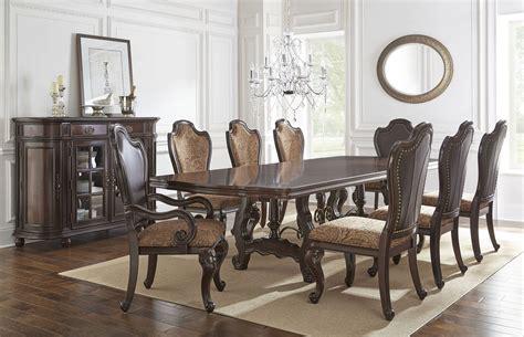 angelina double pedestal dining room set steve silver