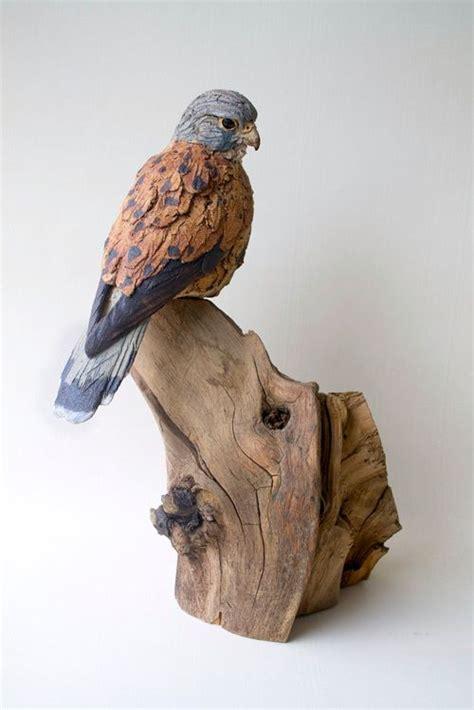 kestrel  simon griffiths ceramic birds bird