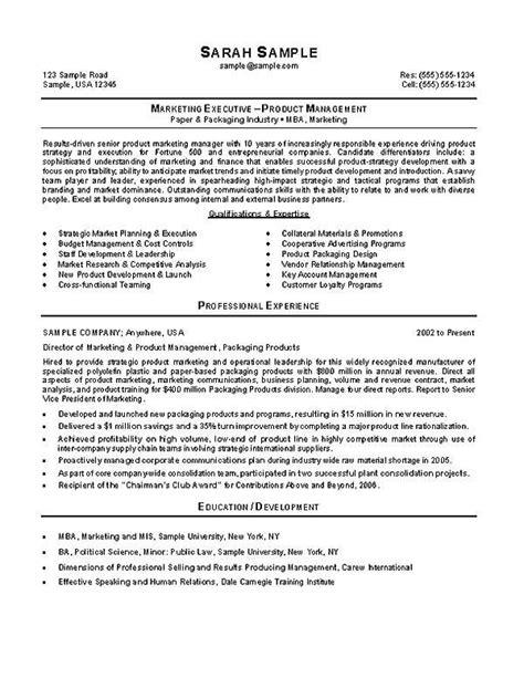 18483 mba marketing resume marketing mba resume exle resume exles