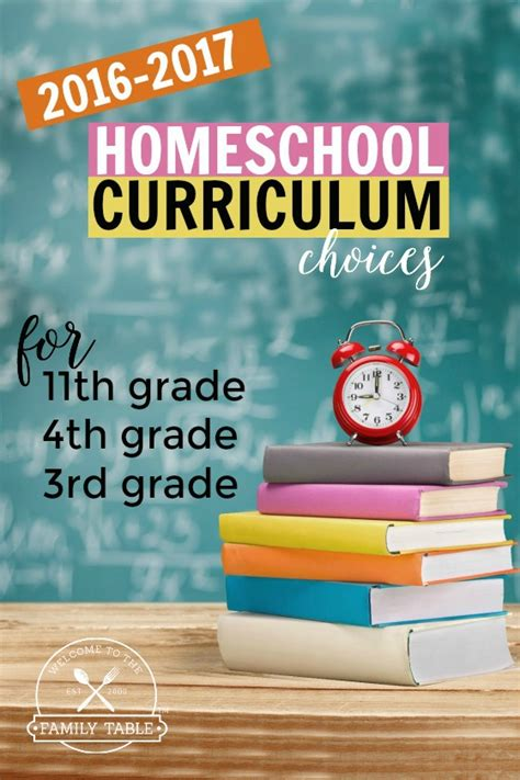Our 20162017 Homeschool Curriculum Choices (3rd, 4th, 11th Grade)  Welcome To The Family Table™