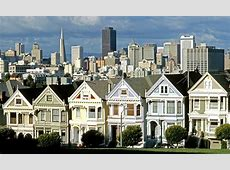 San Francisco Painted Ladies Victorian Houses Hilton