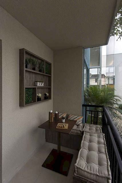 Open one side Small Apartment Balcony with sofa and table
