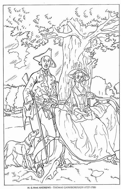 Coloring Pages Paintings Famous Gainsborough Pollock Jackson