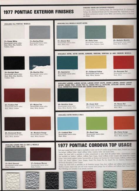 1979 trans am interior paint codes billingsblessingbags org