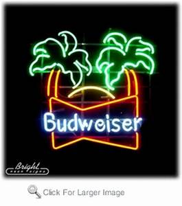 Budweiser Palm Trees Neon Sign only $299 99 Signs B