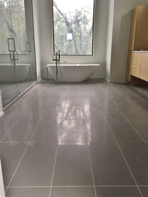 12x24 Porcelain Tile On Master Bathroom Floor  Tile Jobs