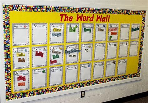 word wall word walls in preschool and kindergarten