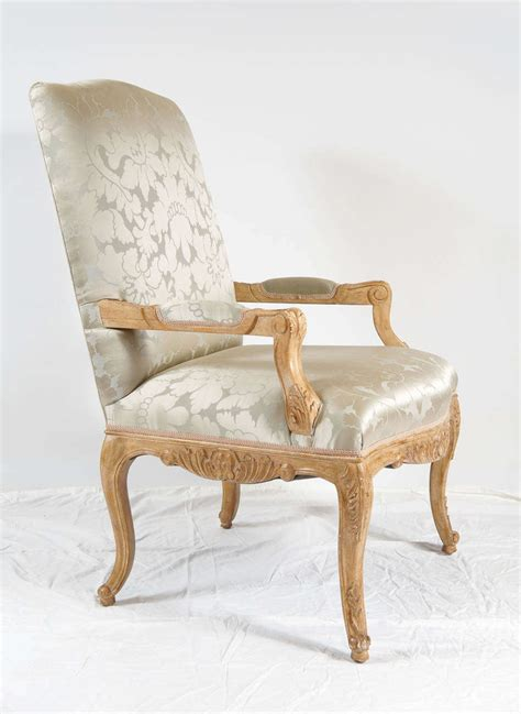 louis xiv style chair silk damask upholstery image 3