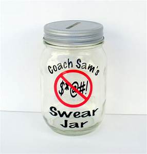 Personalized Swear Jar Mason Jar with Slotted by ...