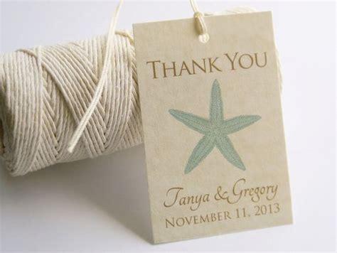 printable beach wedding favor tags starfish thank you