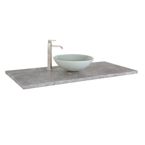 vanity with top and sink 49 quot x 22 quot silver travertine vessel sink vanity top bathroom