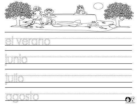 seasons of the year spanish printout spanish worksheets