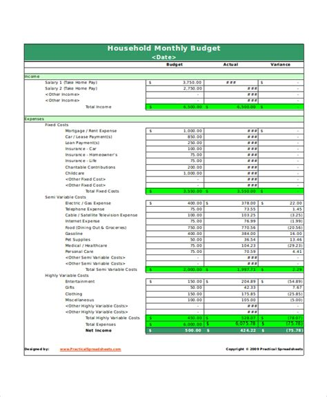 excel monthly budget templates word excel pages