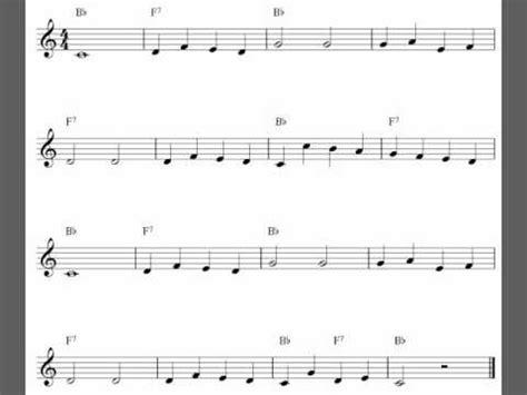 easy clarinet sheet  solo youtube