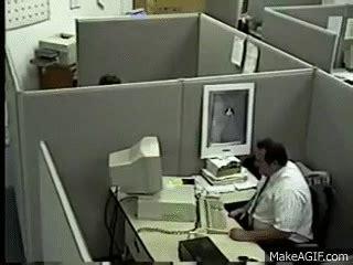 man destroys  keyboard  monitor    gif