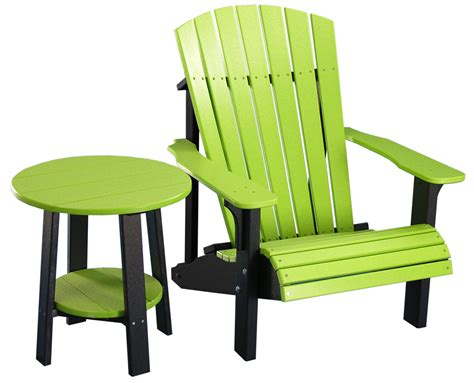 lime green kitchen chairs amish kitchen tables deluxe adirondack chair end table 7094