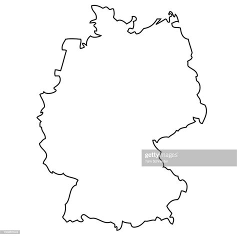 Available in ai, eps, pdf, svg, jpg and png file formats. Outline Map Of Germany High-Res Stock Photo - Getty Images