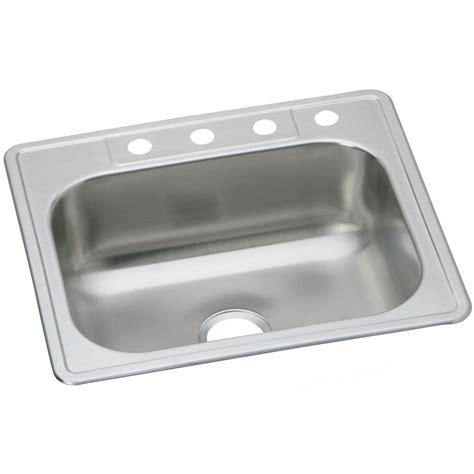 dayton kitchen sink elkay signature drop in stainless steel 33 in 4 3106