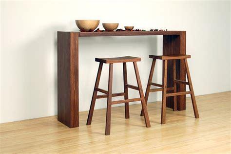 Long Bar Table and Stools : Bar Table and Stools with