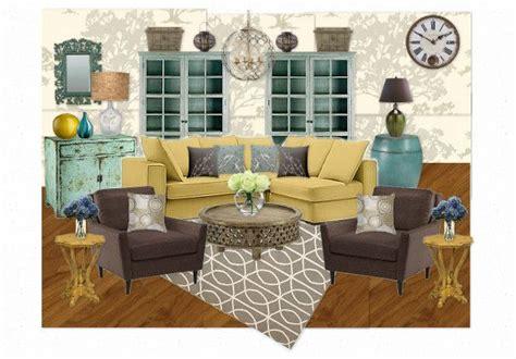 teal mustard  grey living room images