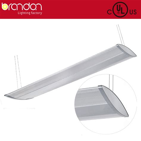 suspending direct indirect aluminium lighting fixture