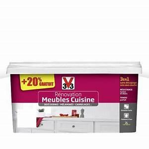 Peinture de rénovation Meubles Cuisine Blanc Brillant 2L + 20% gratuits CASTORAMA