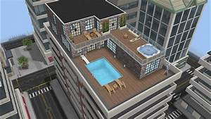 Modern Penthouse design preview (Sims Freeplay ...