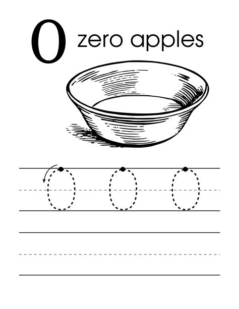 zero worksheets preschool homeshealth info