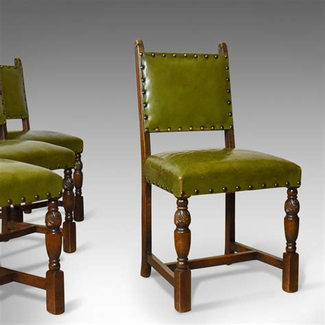 set   antique dining chairs jacobean revival english oak circa london fine antiques