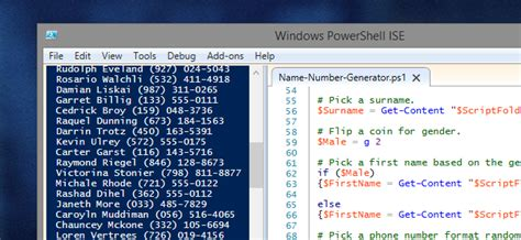 random phone number generator how to generate random names phone numbers with powershell