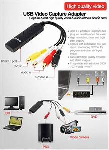 Usb Audio  U0026 Video Capture Device    Grabber  Record    Capture From Composite Av    Stereo Audio