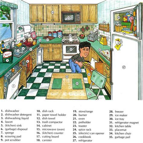 Kitchen Vocabulary by Kitchen Vocabulary Using Pictures Lesson