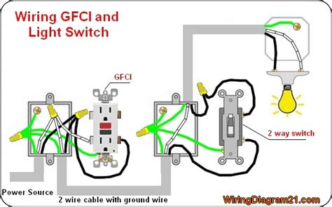 Home Wiring Switch by Gfci Outlet Wiring Diagram House Electrical Wiring Diagram