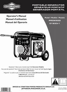 Briggs And Stratton 01933 1 Users Manual 1933 1efs